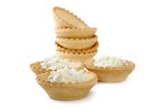 Tartlets with soft cheese  Stock Photography