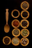 Tartlets with spices Royalty Free Stock Photo