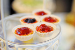 Tartlets with Strawberry Stock Images