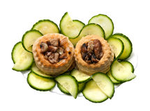 Tartlets stuffed with meat Stock Images