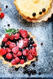 Tartlets with summer berries Royalty Free Stock Images