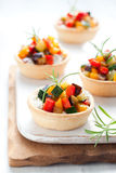 Tartlets with vegetables Royalty Free Stock Image