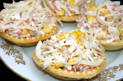 Tartlets With Salad Royalty Free Stock Images