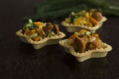 Tartlets z Chanterelles zdjęcia royalty free