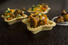 Tartlets z Chanterelles Fotografia Stock