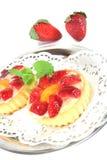 tarts φραουλών μεντών Στοκ εικόνες με δικαίωμα ελεύθερης χρήσης