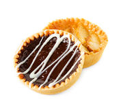 Tarts with apples and chocolate Royalty Free Stock Image