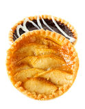 Tarts with apples and chocolate Stock Photo