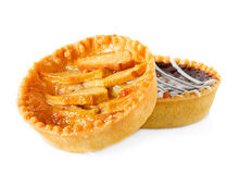 Tarts with apples and chocolate Stock Images