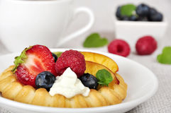 Tarts with berries Stock Photo