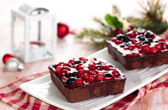 Tarts with berries. Royalty Free Stock Photos