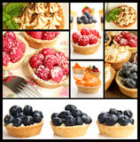 Tarts collage. Collage showing some little fruity tarts and lemon tarts Royalty Free Stock Image