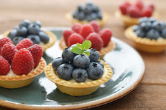 Tarts with fresh berries Royalty Free Stock Photography