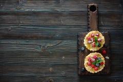 Tarts with fresh berries Stock Photos