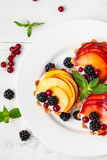 Tarts with froots Stock Image