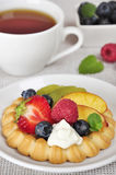 Tarts with fruits Stock Photography