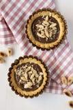 Tarts with hazelnut cream Royalty Free Stock Photos