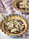 Tarts with hazelnut cream Stock Photo