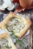 Tarts with mushrooms. Stock Images