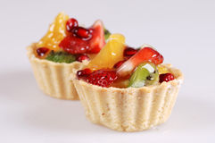 Tarts With Strawberry Stock Images