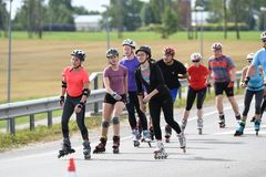 Tartu/Εσθονία - 26 Αυγούστου 2018: Ευθύγραμμος μαραθώνιος πατινάζ Tartu στοκ εικόνα με δικαίωμα ελεύθερης χρήσης