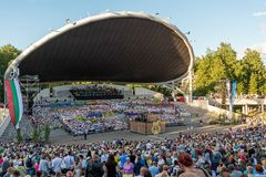 Tartu/Estonia - 22 June 2019: Tartu song festival royalty free stock photos