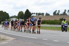 Tartu, Estonia/- 26 2018 Sierpień: Tartu Inline Łyżwiarski maraton zdjęcia stock