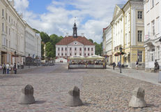 Tartu, Estonia. Town Hall Square in Tartu, Estonia Royalty Free Stock Image