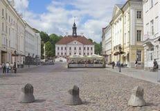 Tartu, Estonia. Town Hall Square in Tartu, Estonia royalty free stock image
