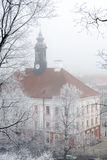 Tartu town hall in winter fog Stock Image