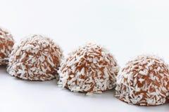 Tartufi della noce di cocco del cioccolato Immagine Stock Libera da Diritti