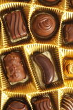 Tartufi di cioccolato in una casella fotografia stock libera da diritti
