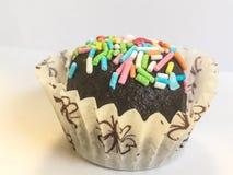 Tartufo di cioccolato con le praline colorate Immagine Stock