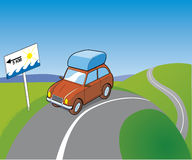 Tarvel to the beach. Vector Travel to the beach Royalty Free Illustration
