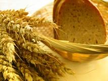 Tarwe en brood stock afbeeldingen
