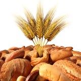Tarwe en brood Stock Foto's
