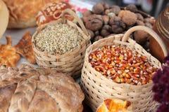 Tarwe en maïs Royalty-vrije Stock Afbeeldingen