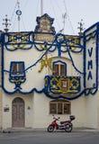 Tarxien, MALTA 27 de maio: decoração maltesa tradicional da rua no tempo da festa da religião na vila de Tarxien, MALTA em maio 2 Fotos de Stock
