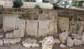 Tarxien Temple main entrance | megalithic royalty free stock photo