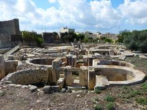 The Tarxien Temples are Malta's most complex network of temples Stock Images