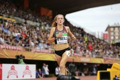 TARYN O`NEILL from Canada was 6th in the 3000 METRES final at the IAAF World U20 Championships in stock image