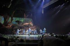 Tarzan: Appell av djungelshowen på Shanghai Disneyland fotografering för bildbyråer