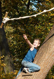 Tarzan in youth Royalty Free Stock Photo