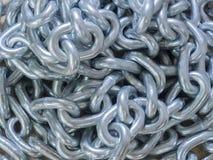 Tas à chaînes en métal, chaînes de fond Photo libre de droits