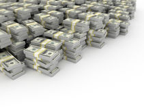 Tas d'argent sur le fond blanc illustration libre de droits