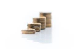 Tas d'euro pièces de monnaie Photographie stock libre de droits