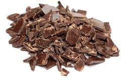 Tas de chocolat cassé Image libre de droits