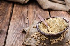 Tas de farine de soja photo libre de droits