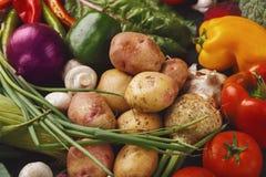 Tas de fond de légumes frais Image stock