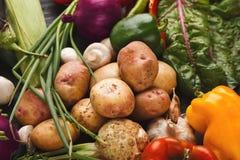 Tas de fond de légumes frais Photos stock